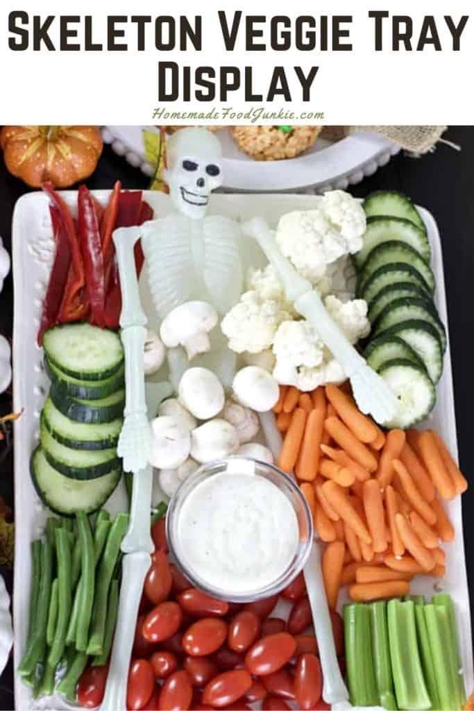 Skeleton veggie tray display-pin image