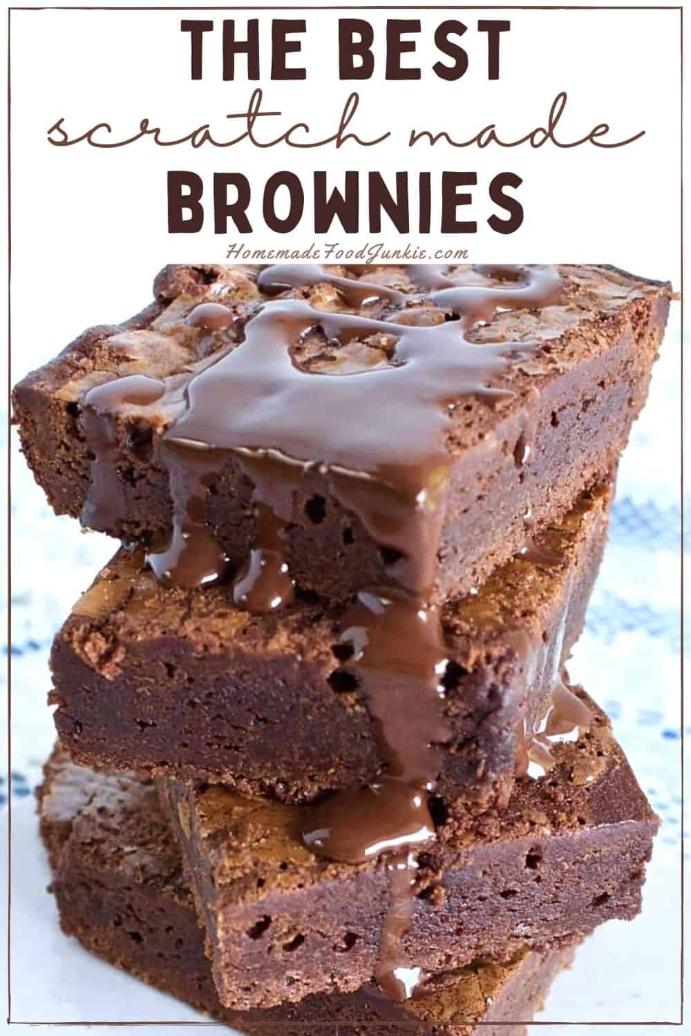 The best scratch made brownies-pin image