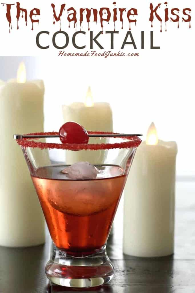 The vampire kiss cocktail-pin image