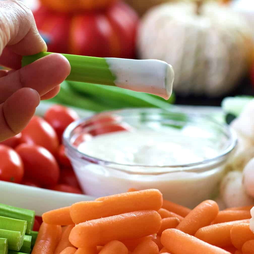 veggie tray with ranch