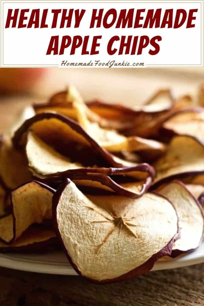 Healthy homemade apple chips-pin image