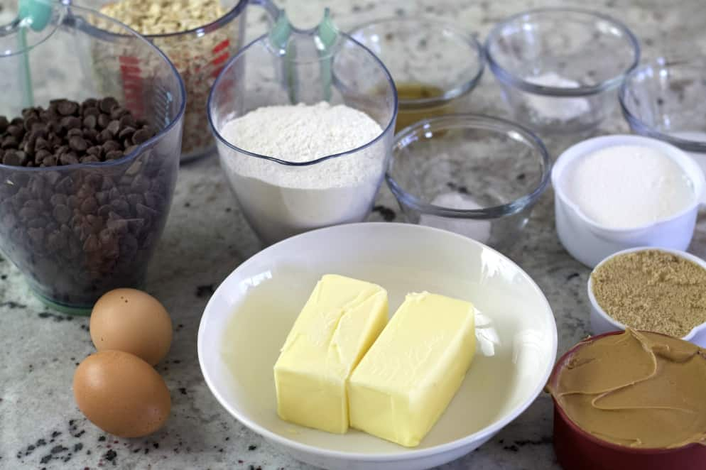 Ingredients For Peanut Butter Oatmeal Cookies Recipe