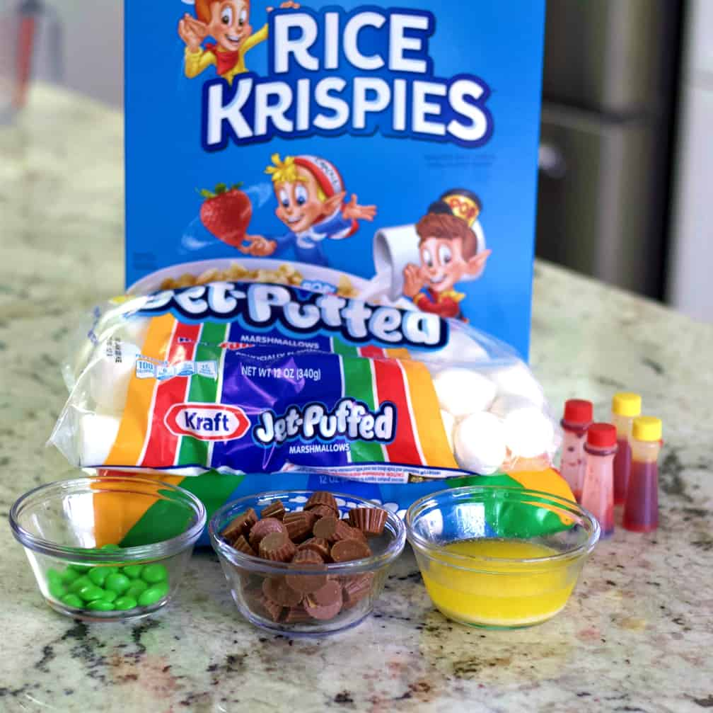Ingredients For Pumpkin Rice Krispie Treats