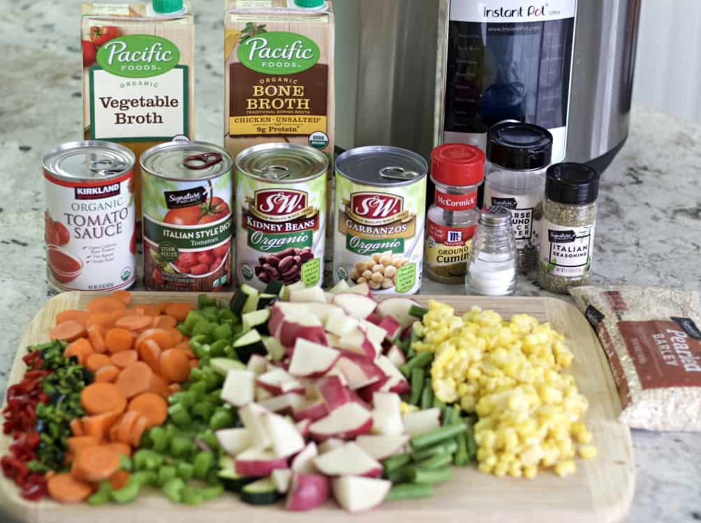 ingredients for instant pot vegetable soup