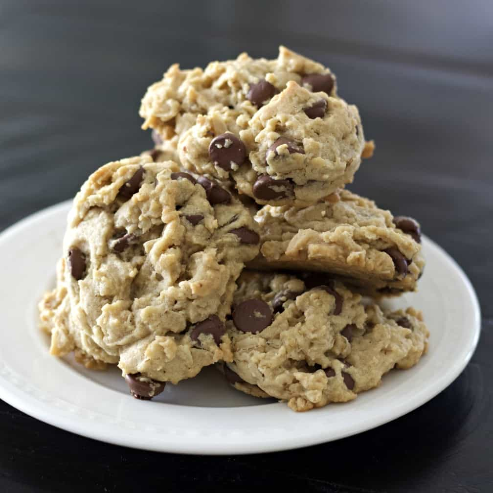Peanut Butter Oatmeal Cookies On Table