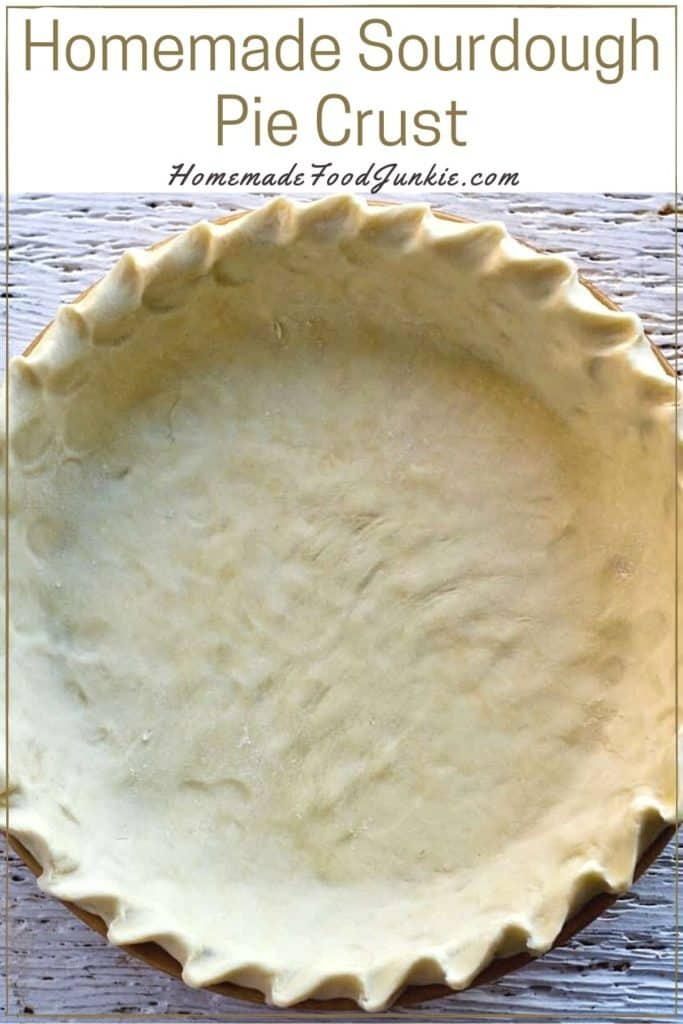 Homemade sourdough pie crust-pin image