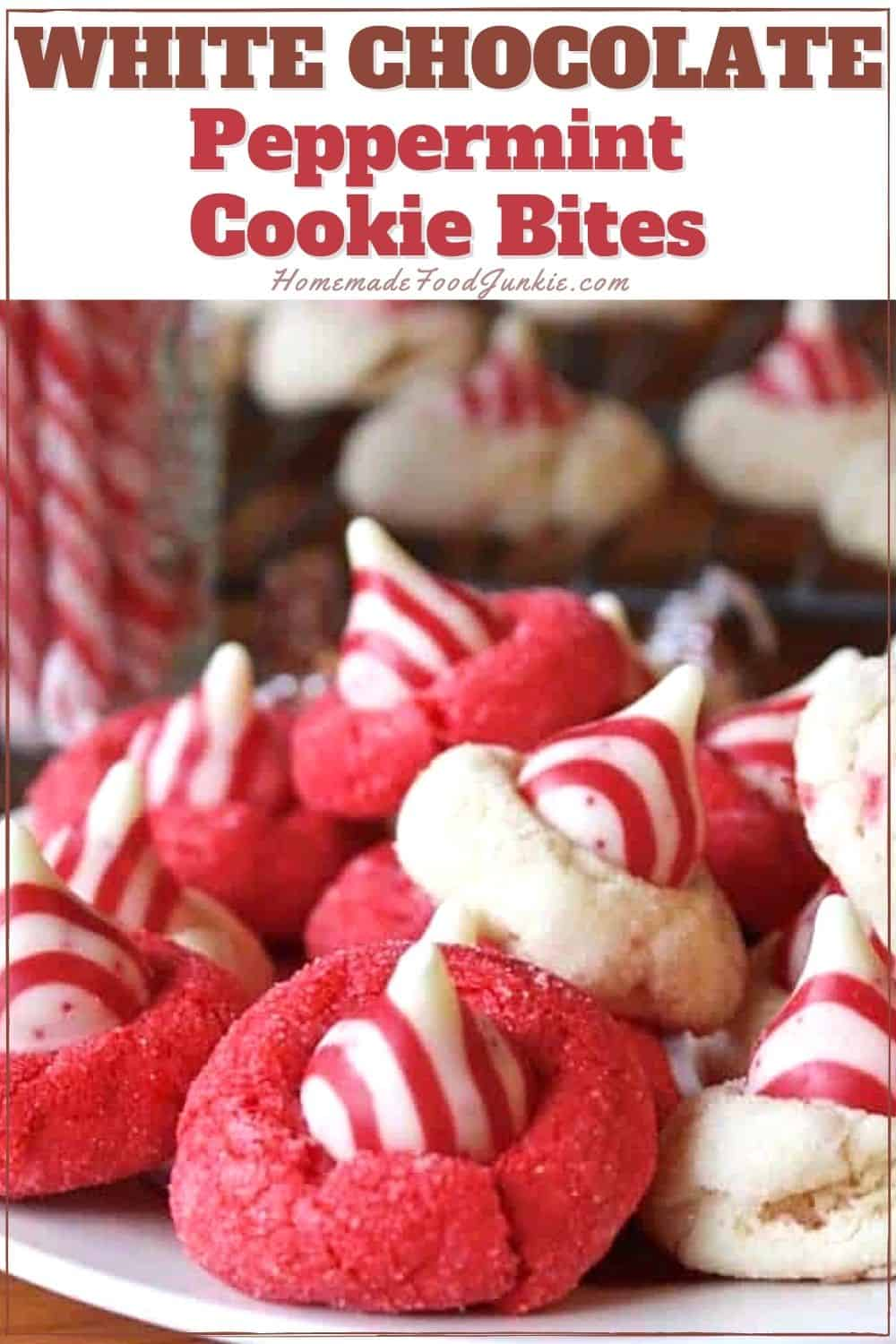 White Chocolate Peppermint Cookie Bites-Pin Image