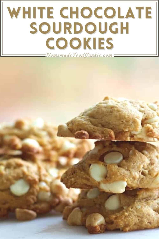 White chocolate sourdough cookies-pin image