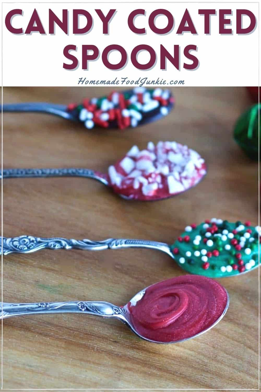 Candy coated spoons-pin image