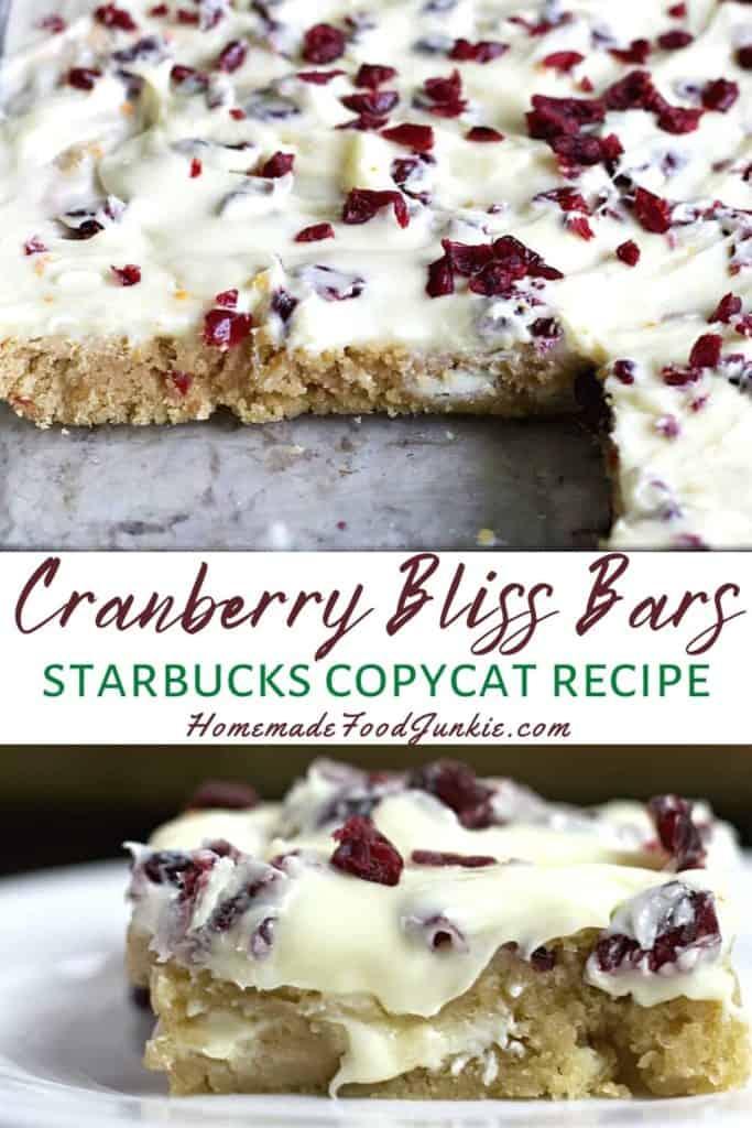Cranberry Bliss Bars Starbucks Copycat Recipe-Pin Image