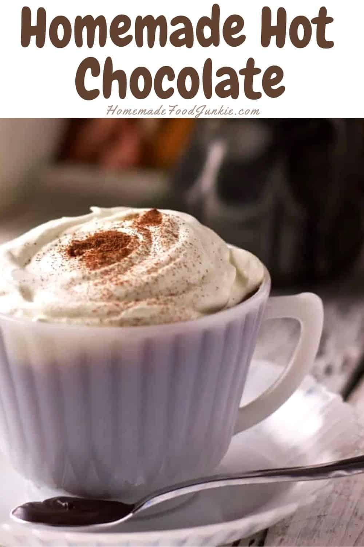 Homemade Hot Chocolate-Pin Image