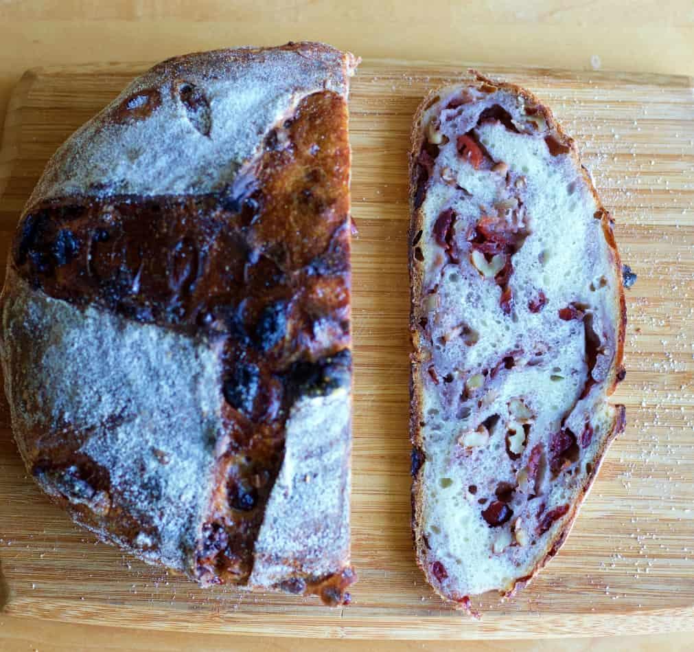 loaded cranberry walnut bread