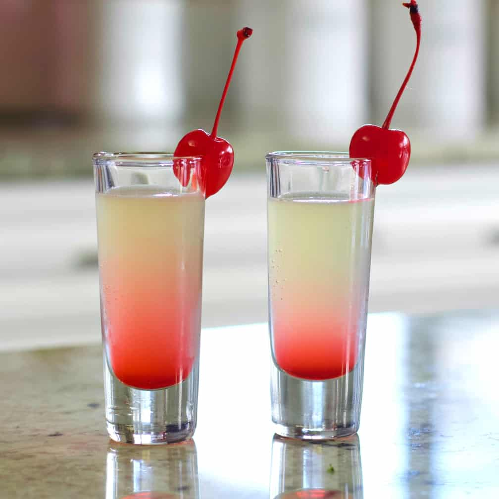 pineapple upside down cake shots