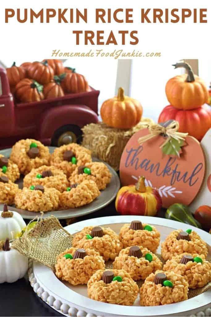 Pumpkin rice krispie treats-pin image