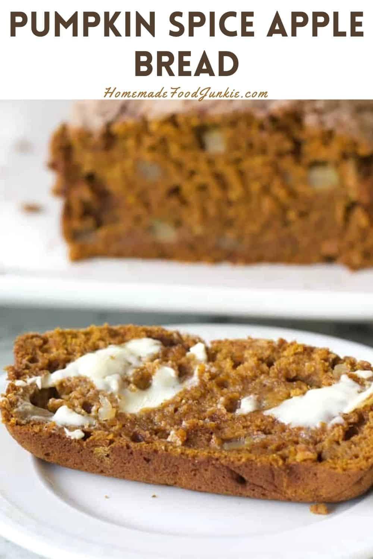 Pumpkin Spice Apple Bread-Pin Image