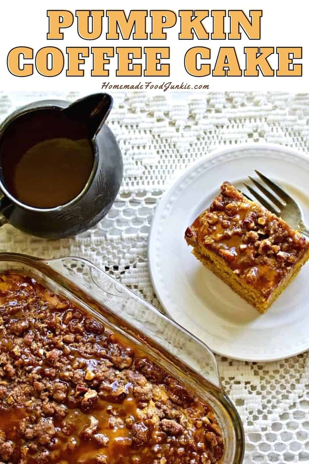 Pumpkin coffee cake-pin image