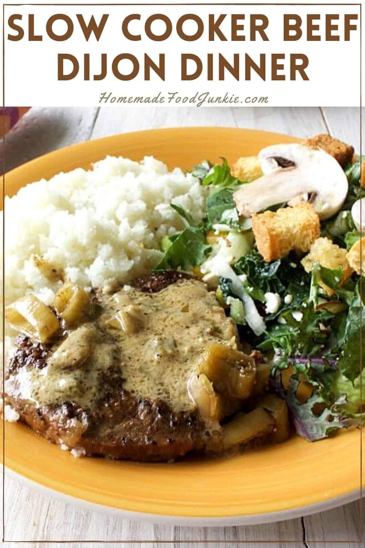 Slow cooker beef dijon dinner-pin image