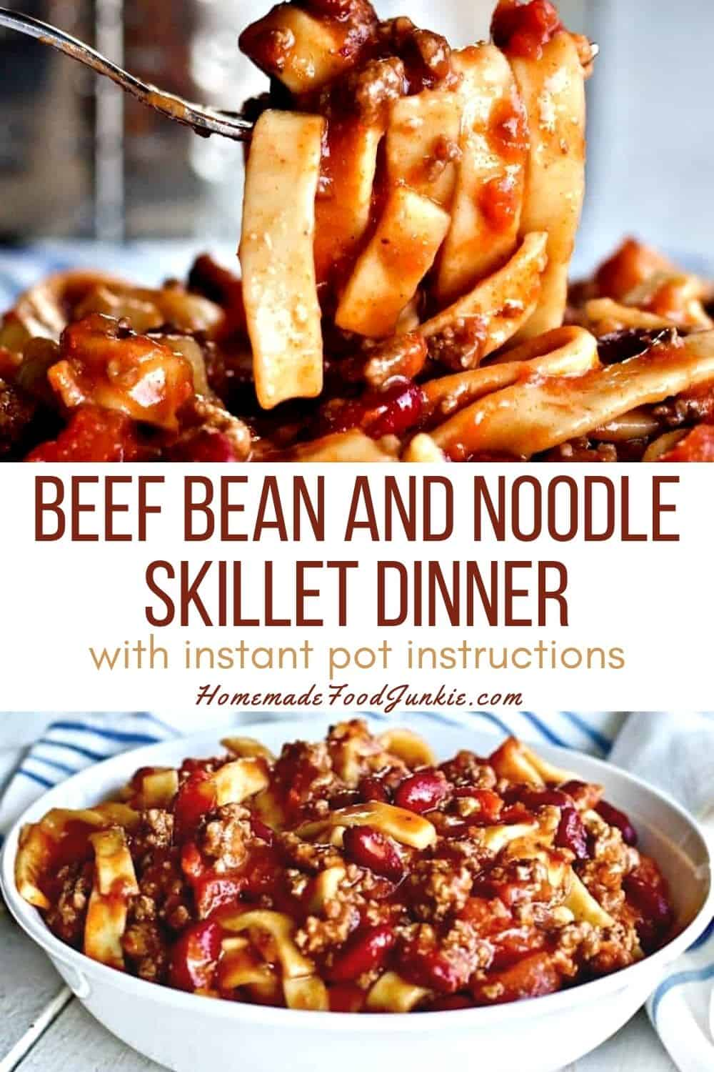 Beef Bean And Noodle Dinner-Pin Image