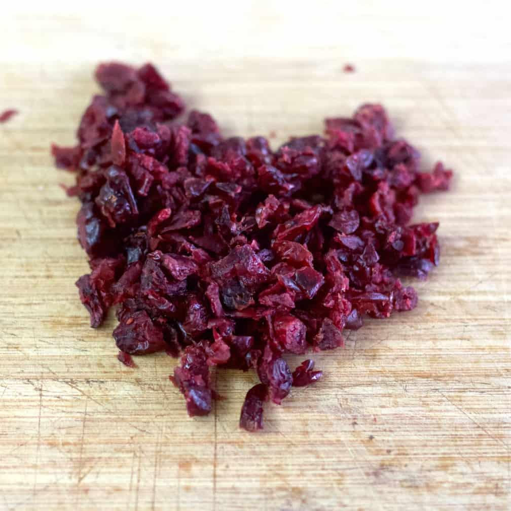 chopped cranberries