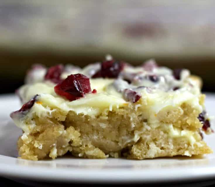 Cranberry Bliss Bars Side