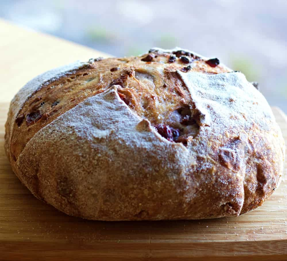 cranberry walnut sourdough bread