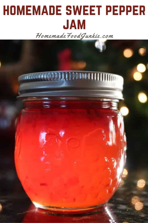 Homemade sweet pepper jam-pin image