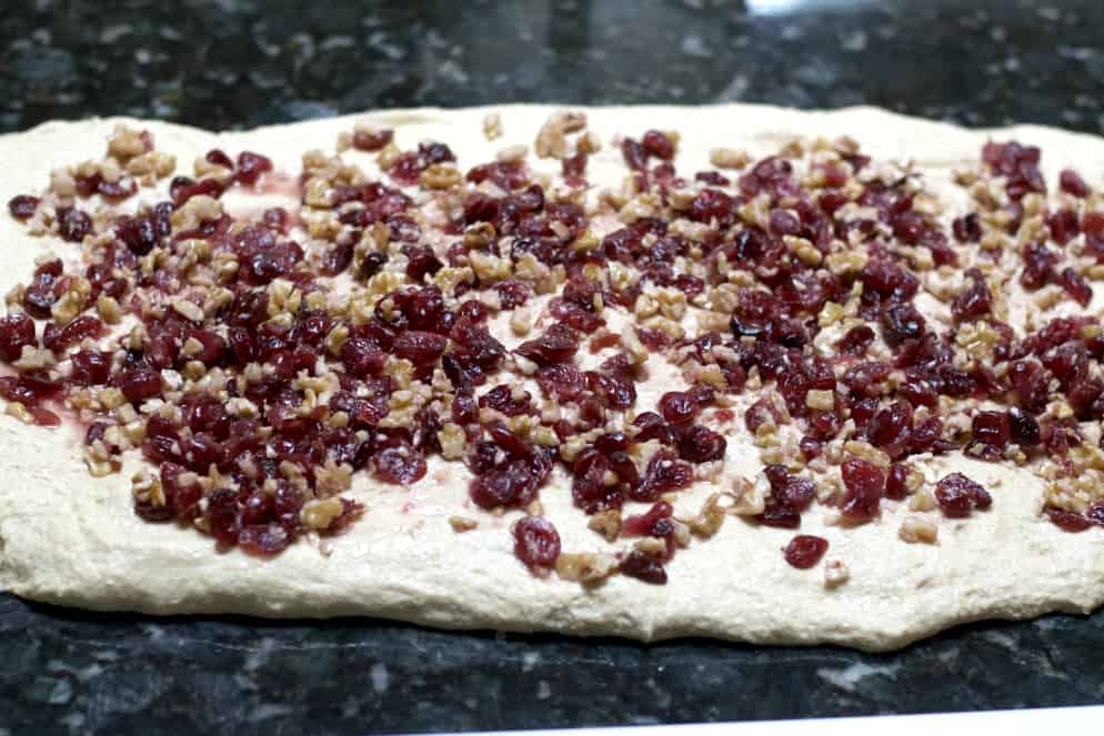 sourdough layered with nuts and berries