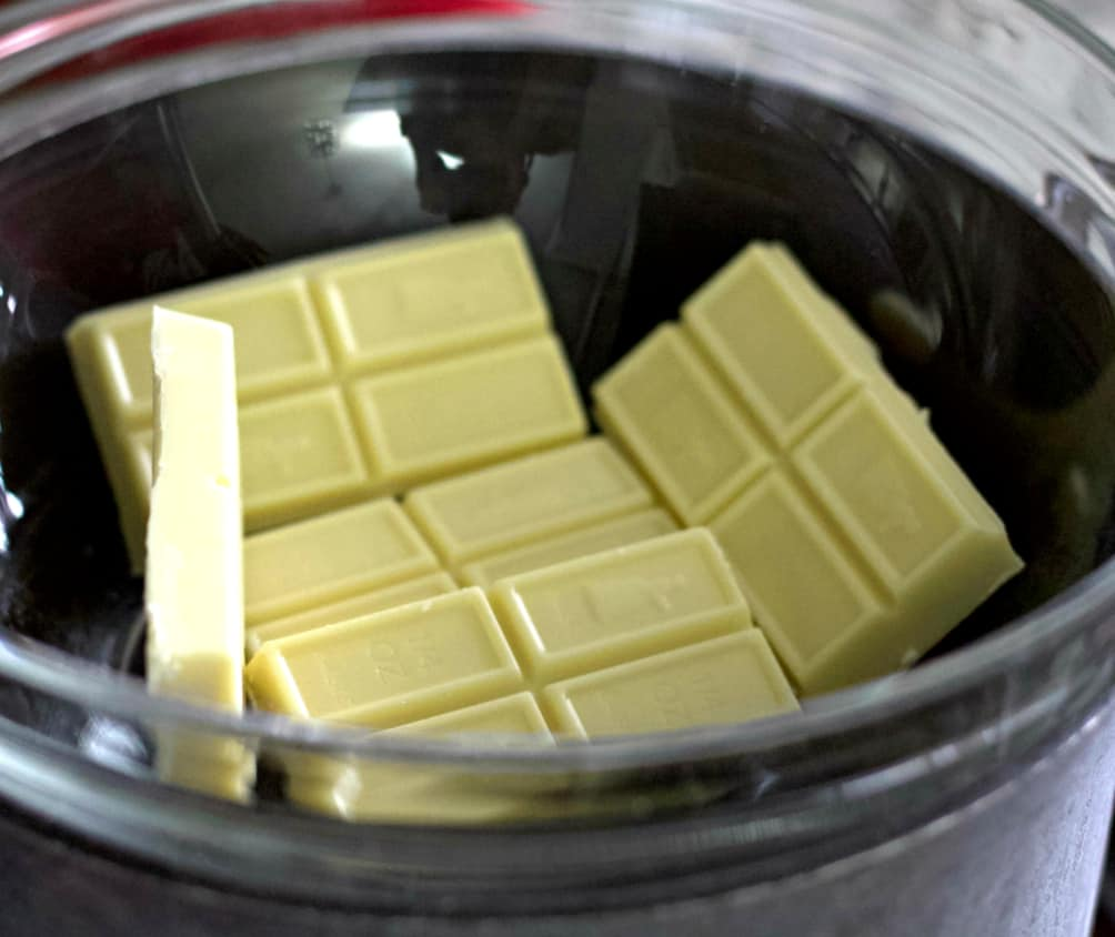 melt white chocolate in double boiler