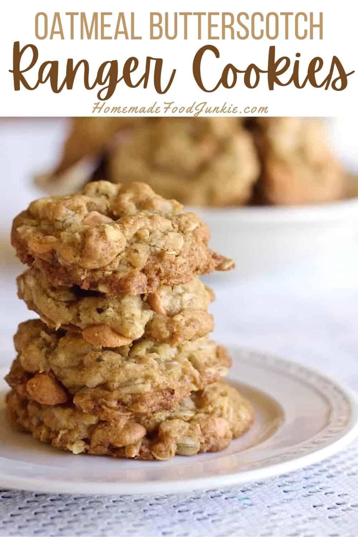 Oatmeal butterscotch ranger cookies-pin image