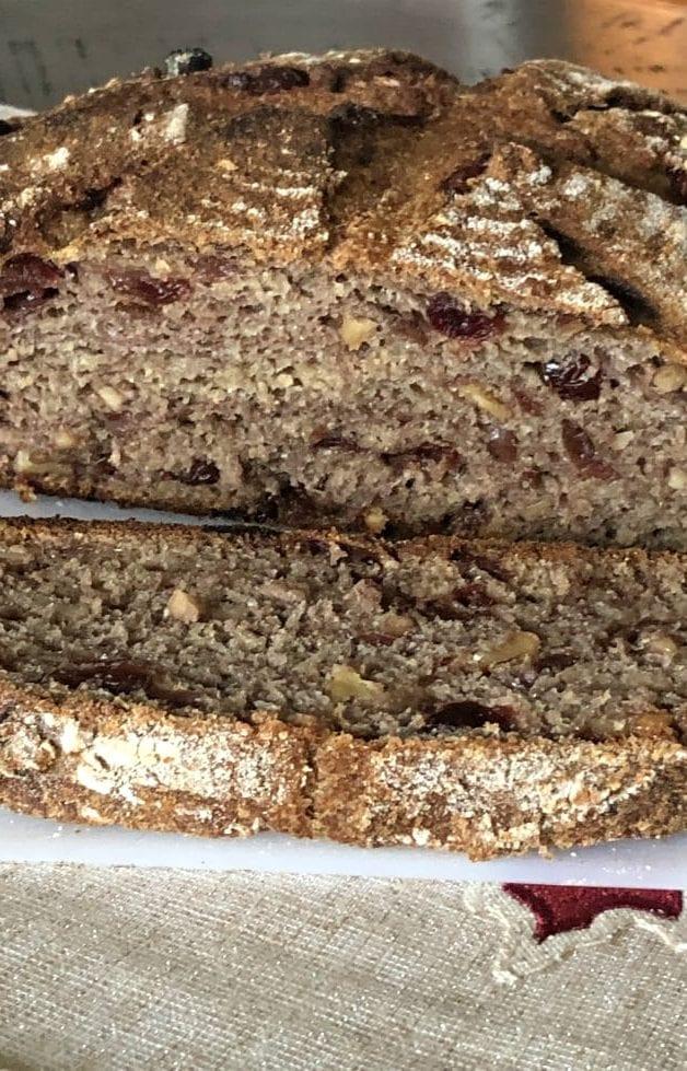 100% whole wheat cranberry walnut bread sourdough recipe