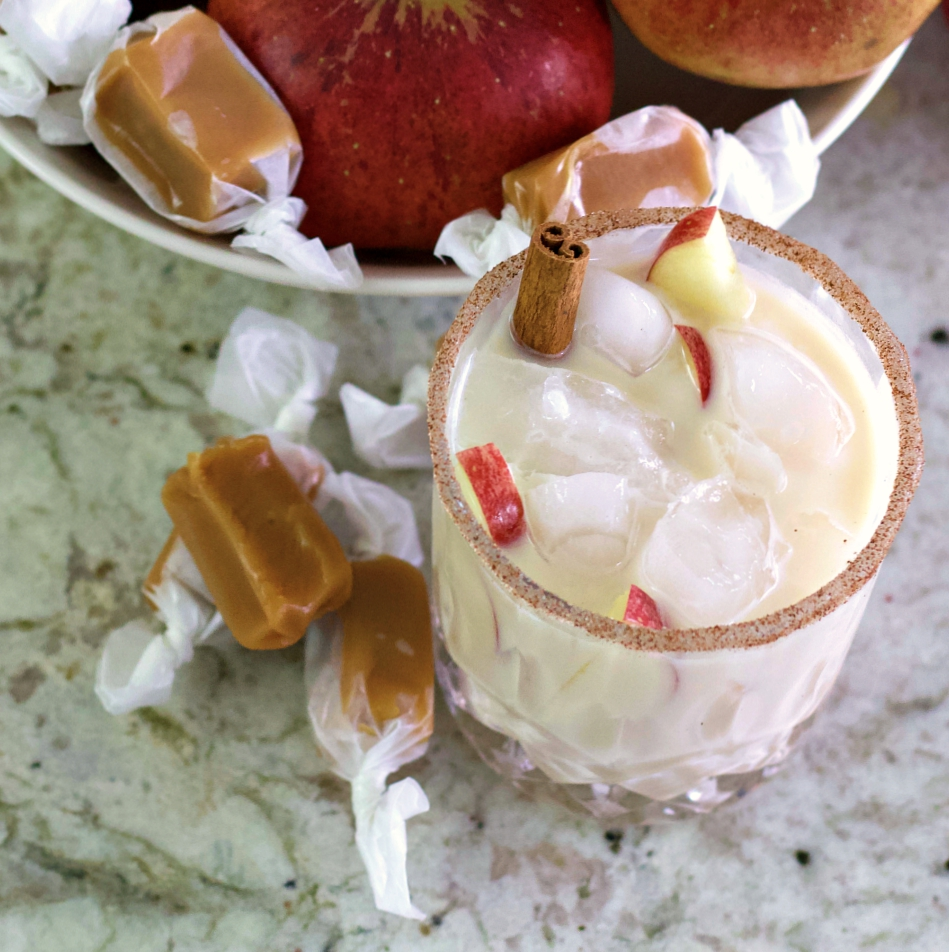 Apple Pie cocktail top view