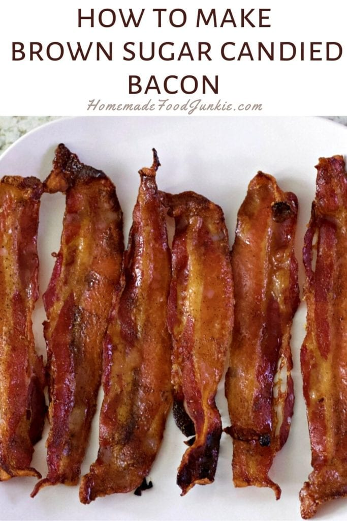 How to make brown sugar candied bacon-pin image