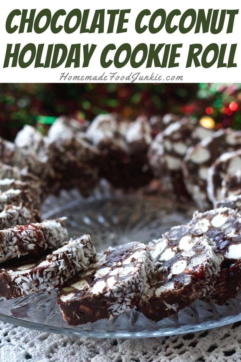 Chocolate coconut holiday cookie roll-pin image