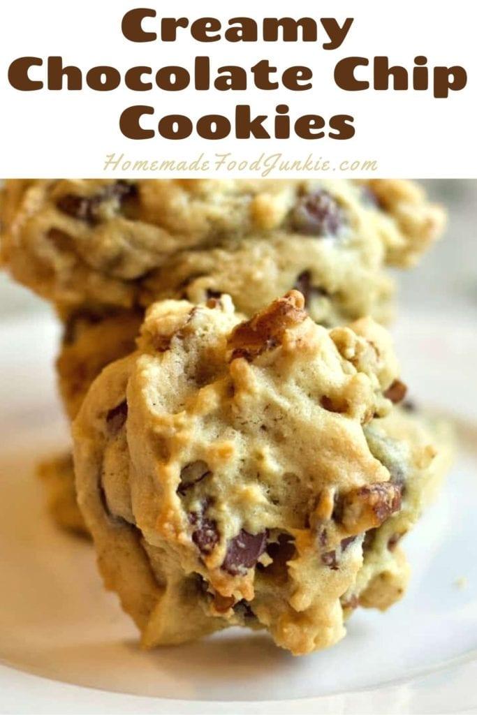 Creamy Chocolate Chip Cookies-Pin Image