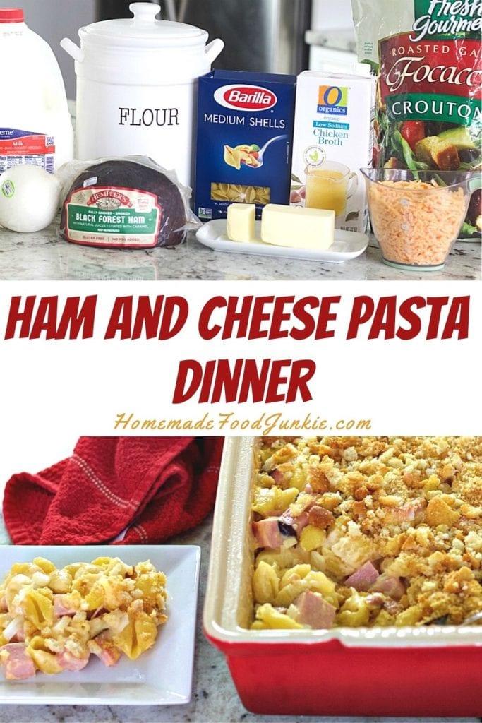 Ham And Cheese Pasta Dinner-Pin Image