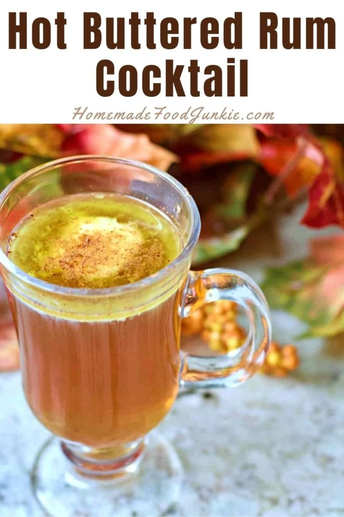 Hot buttered rum cocktail-pin image