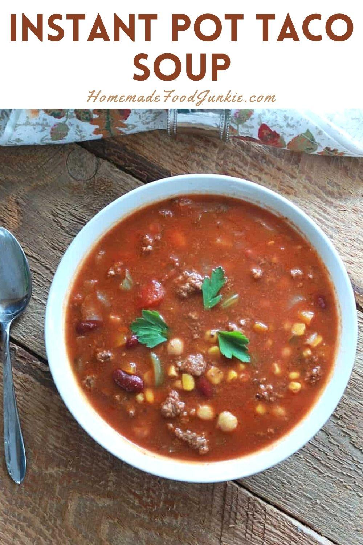 Instant pot taco soup-pin image