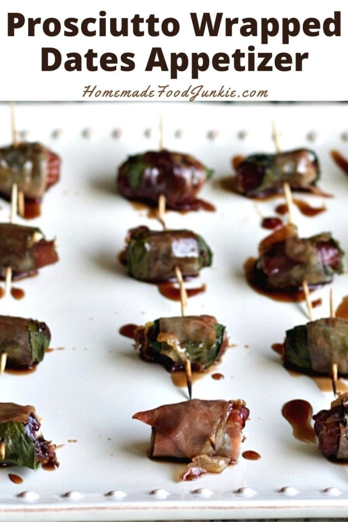 Prosciutto wrapped dates appetizer-pin image