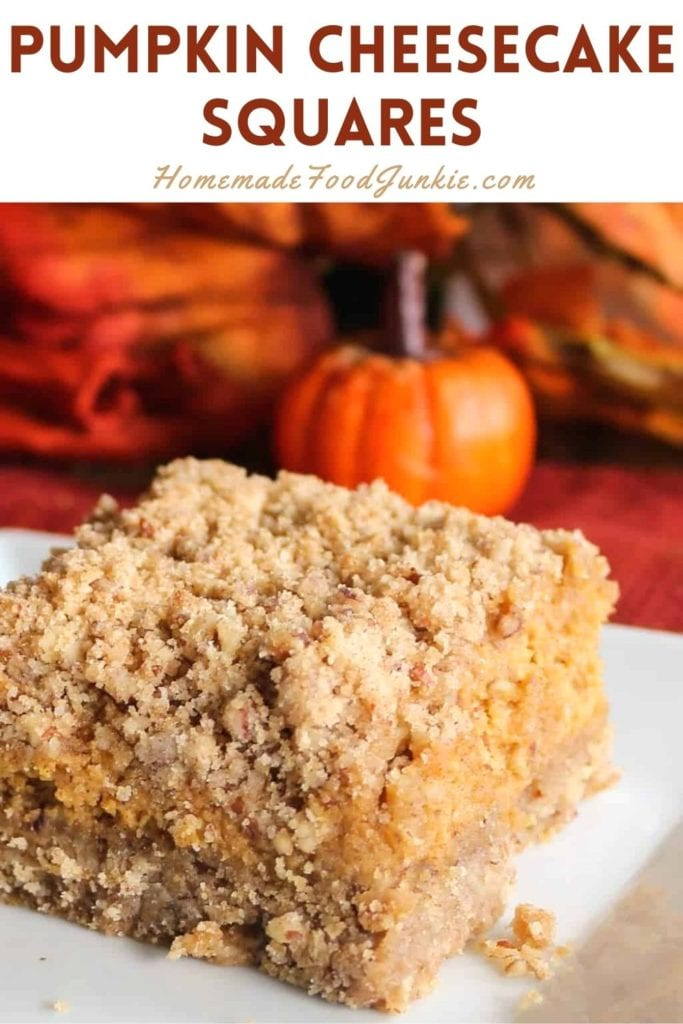 Pumpkin Cheesecake Squares-Pin Image