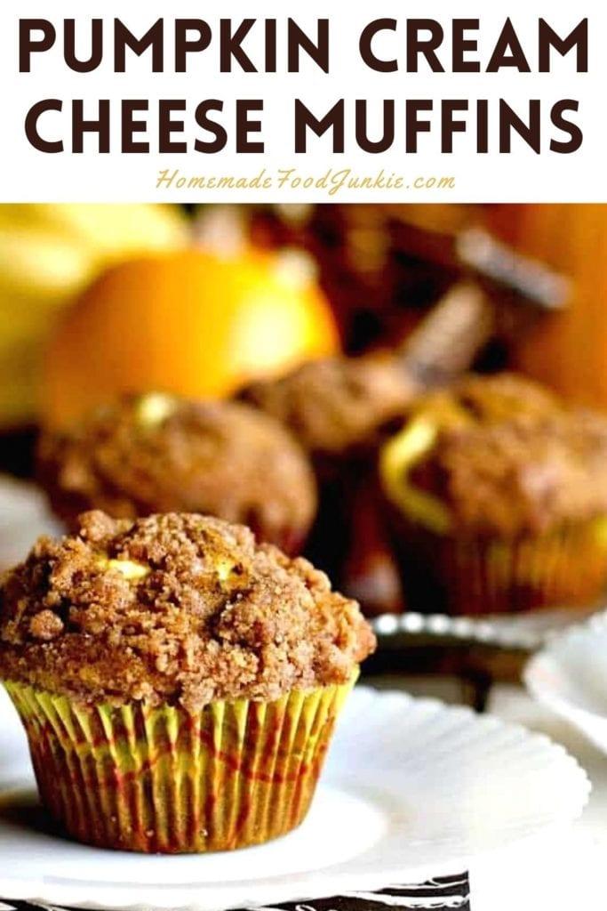 Pumpkin Cream Cheese Muffins-Pin Image