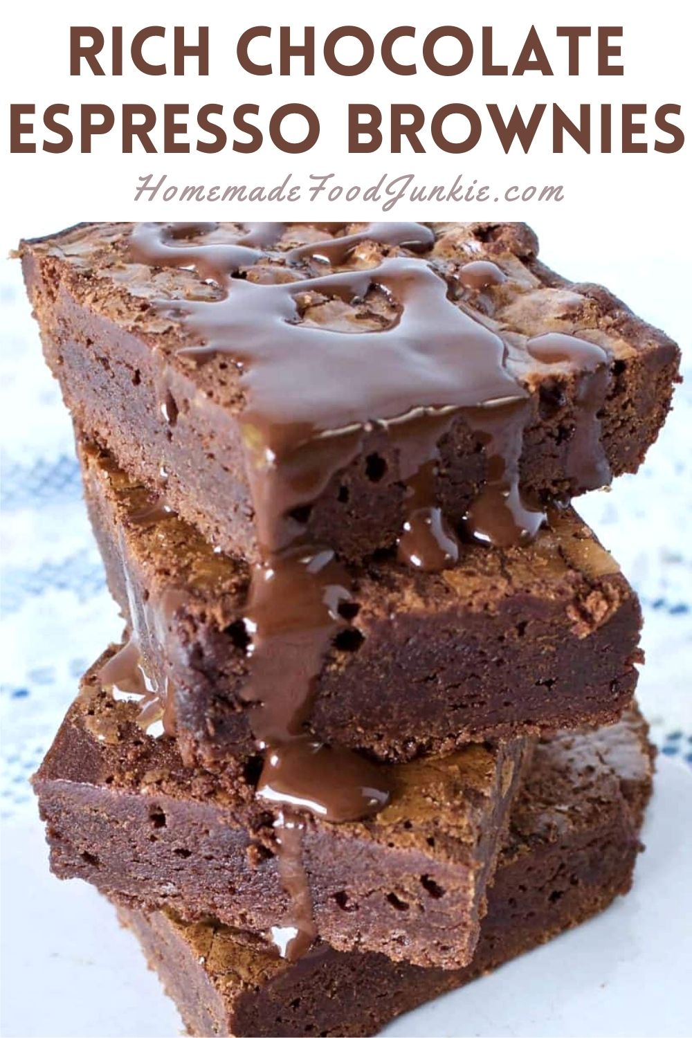 Rich chocolate espresso brownies-pin image