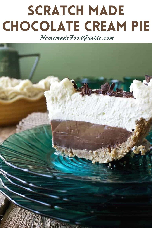 Scratch Made Chocolate Cream Pie-Pin Image