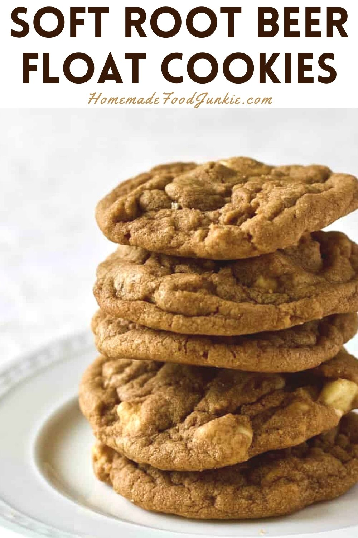 Soft root beer float cookies-pin image