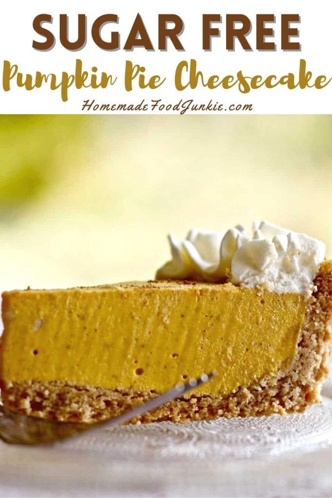 Sugar Free Pumpkin Pie Cheesecake-Pin Image