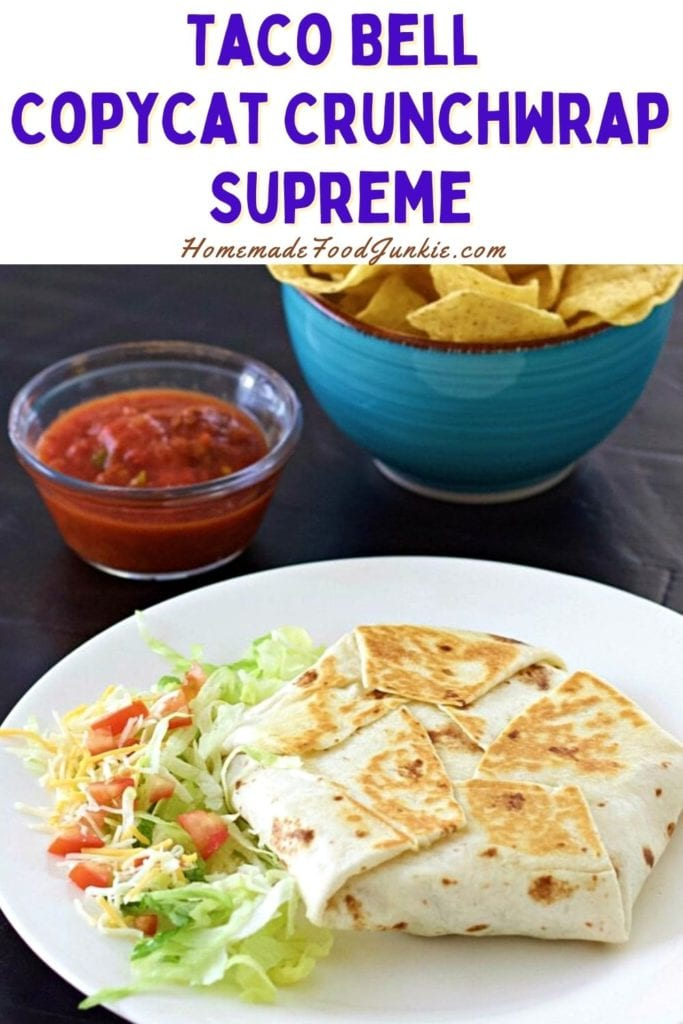 Taco Bell Copycat Crunch Wrap Supreme-Pin Image