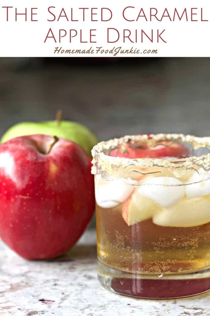 The salted caramel apple drink-pin image