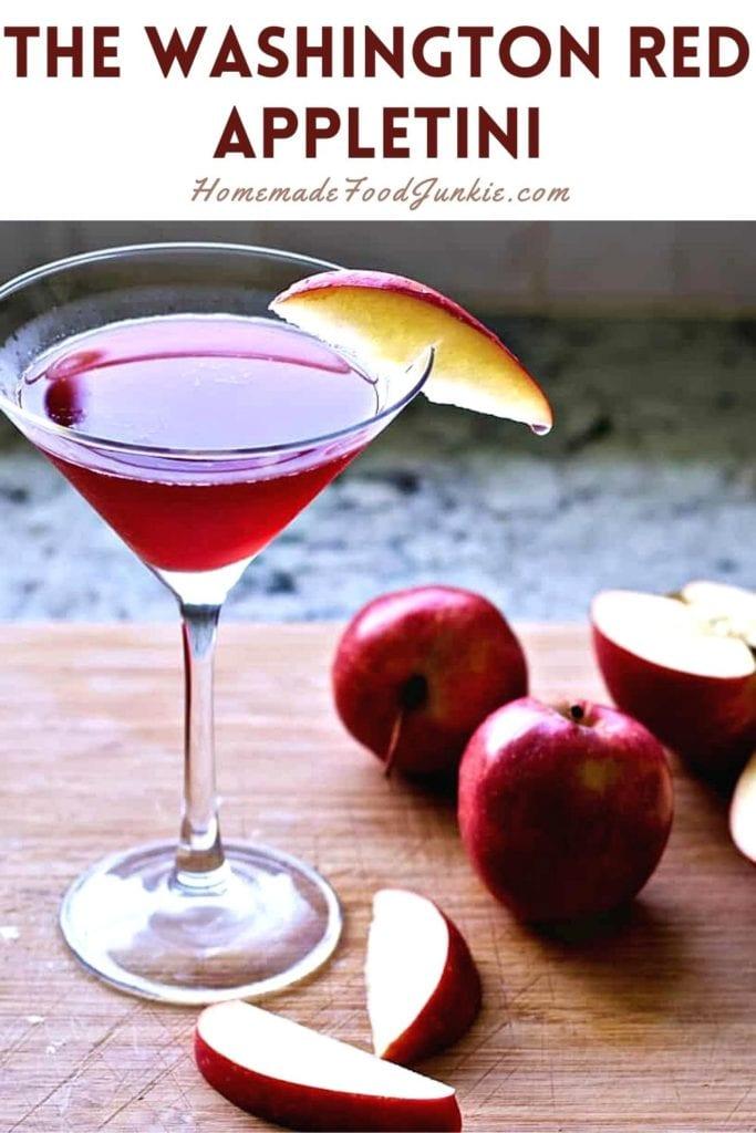 The Washington Red Appletini-Pin Image