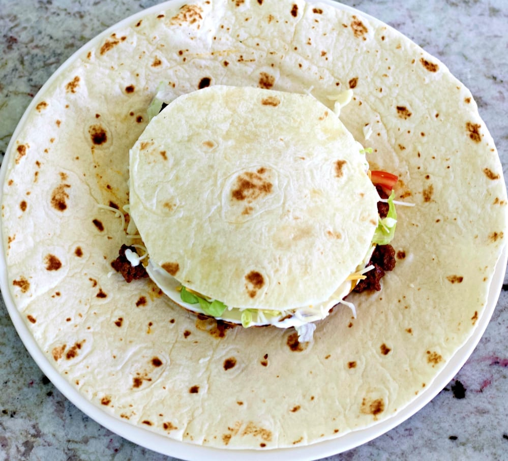 top with a small tortilla