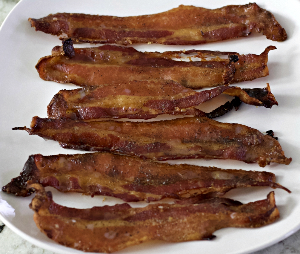 strips of candied bacon