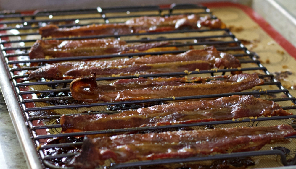 baked candied bacon